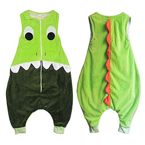 Unisex Winter Hooded Romper Jumpsuit Baby Strampler Pyjamas, Baby Schlafsack mit Füßen, Mädchen und Jungen Cartoon Schlafsack Vier Jahreszeiten