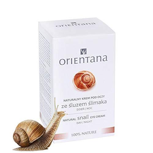 Orientana Augencreme mit Schneckenschleim - fast zu 99% Natürliche, gegen Hautalterung, Schwellungen, Tränensäcke und Augenringe, 15 ml