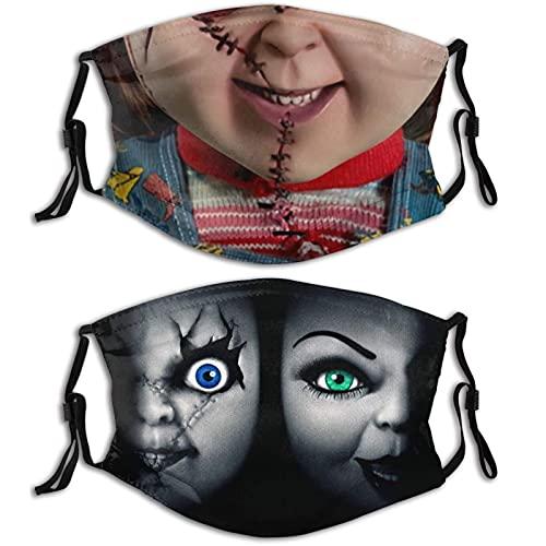 KINGAM Máscaras faciales ligeras ultra transpirables lavables reutilizables adultos diseños impresos, a prueba de polvo, pasamontañas ajustables Negro-9-1