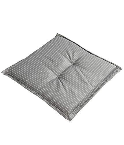 Dehner Sitzkissen Astana, ca. 50 x 50 x 6 cm, Polyester, grau/weiß