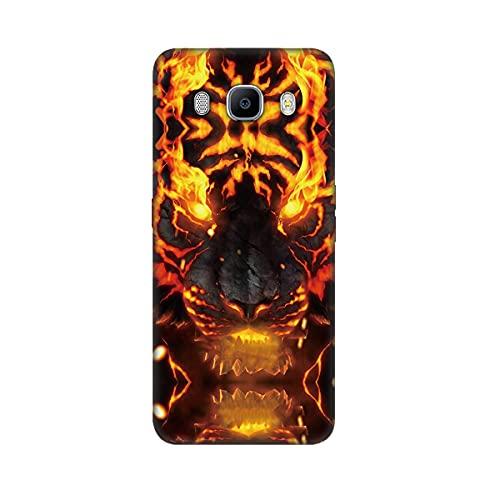DiaryTown Cover per Samsung Galaxy J5 2016 Silicone Morbida, Nero Cover Samsung J5 2016 Custodia con Disegni Animale Case Sottile TPU Antiurto Bumper Cellulare Protettiva Cover, Tigre D'oro