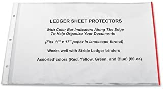 Stride EasyFit Color Bar Sheet Protectors, 11