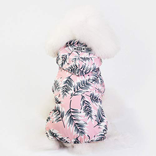 BSbattle impermeable para perro ropa para perros impermeable ropa para mascotas ropa transparente impermeable para mascotas abrigo de perro para chihuahua manto 30-rosa-l