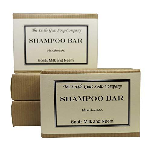 4x Shampoo Bar Haarseife–Ziegenmilch und Neemöl, 100g