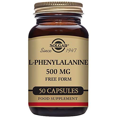Solgar L-Fenilalanina Cápsulas vegetales de 500 mg - Envase de 50 (E2200)