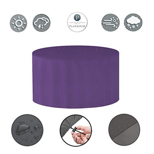 Holi Europe Premium étui Gartenstuhl-Kissen Housse de Protection de Table de Jardin Ronde Ø 120 cm x H 75 cm Violet