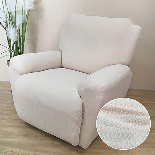 HOMRanger Stretch Recliner Slipcover,Jacquard Waterproof Sofa Cover 1-Piece Breathable Furniture Protector for Chivas Pets Beige Chair