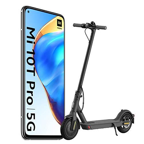 """Xiaomi Mi 10T Pro Pack de Lanzamiento (Pantalla 6.67"""" FHD+ DotDisplay, 8GB+128GB, Cámara de 108MP, Snapdragon 865 5G, 5.000mAh con carga 33W) Plata Lunar [versión española] + Scooter Essential"""