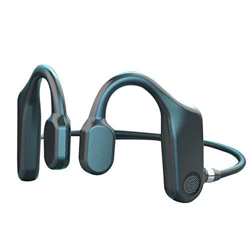 STARMOON Auriculares de conducción ósea Bluetooth 5.1, Auriculares deportivos inalámbricos con tacto completo, batería de larga duración, 9D Hi-Fi, auriculares impermeables con micrófono