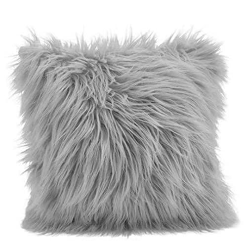 PiniceCore Cubierta Cojín Peluche Decoración para Hogar Cubiertas Cubiertas Almohada Sala Estar Sofá Funda Almohada Decorativa