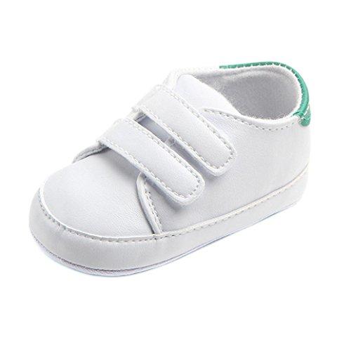 FNKDOR Baby Erste Schuhe Neugeborenen Lauflernschuhe Weiß Krabbelschuhe (0-6 Monate, Grün)