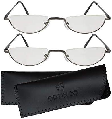 Reading Glasses Men Half Frame Readers Pack of 2 Mens Reading Glasses Fashion Men s Readers product image
