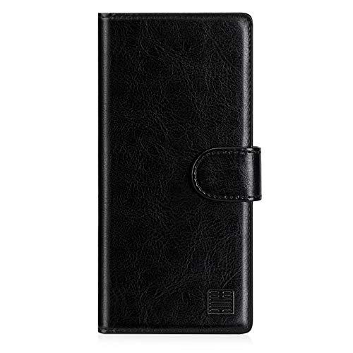 32nd PU Leder Mappen Hülle Flip Case Cover für Samsung Galaxy Note 20 Ultra, Ledertasche hüllen mit Magnetverschluss und Kartensteckplatz - Schwarz