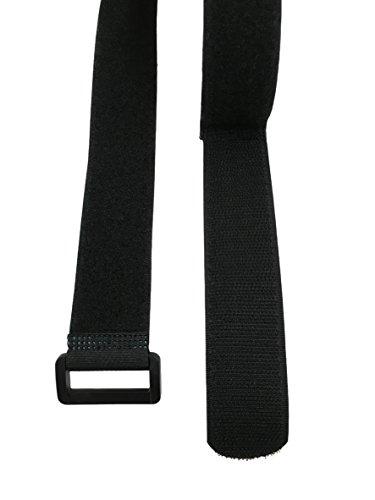 10x 120cm correas con cierre velcro cinturón multiuso cinto para amarrar y almacenar, con ojal o hebilla, práctica como alargador, 100 % nailon, la carpintería o, set 10 unidades, 120 cm