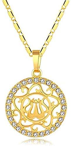 WYDSFWL Collar Collar de Perlas Pendientes Anillo para Mujer/niña Encanto de Moda Bola Redonda Conjuntos de Joyas Arabia Nigeria Regalos Longitud del Collar 60 cm Cadena Delgada Collar Regalo