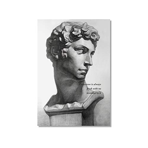 SDFSD Zusammenfassung David Sculpture Europe Wandkunst Leinwand Malerei Poster und Drucke Bild für Galerie Wohnzimmer Interior Home Decor 50 * 70cm