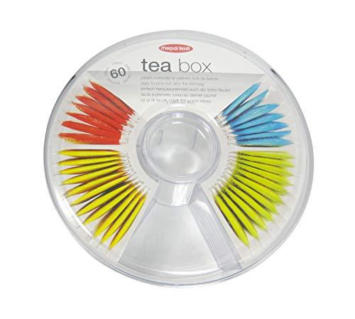 Mepal Teedose Vorratsdose Teebeutel rund, Plastik, Acryl, 20 x 7.9 cm