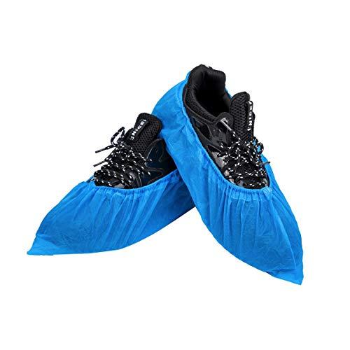 Einweg-Schuhüberzieher & Stiefelüberzüge, 100 Stück (50 Paar), strapazierfähig & wasserabweisend, rutschfeste Überschuhe | Einheitsgröße