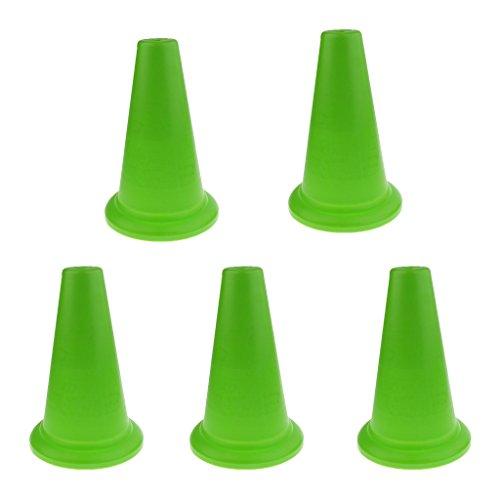 F Fityle Conos de Seguridad Deportiva de 5 Piezas, Tráfico de Entrenamiento de Fútbol, 37 Cm - Verde