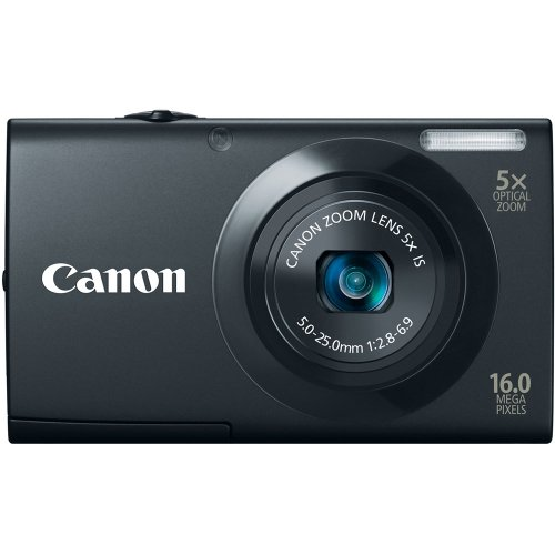 Canon PowerShot A3400 IS 16.0 MP Digital Camera with 5x Optical Image Stabilized Zoom 28mm Wide-Angle Lens with 720p HD Video Recording and 3.0-Inch Touch Panel LCD (Black)