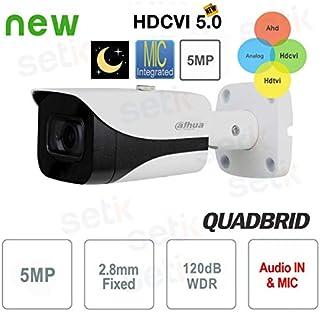 Dahua Technology HAC-HFW2501E-A - Cámara de Exterior (5 Mpx 4 en 1 28 mm)