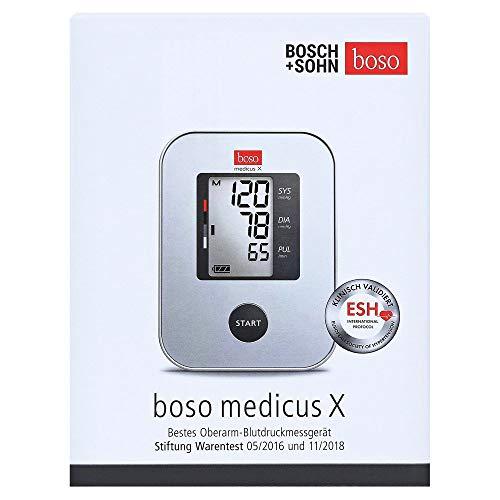 boso medicus X – Oberarm-Blutdruckmessgerät mit Einknopfbedienung, großem Display und Arrhythmie-Erkennung – Mit Standard-Manschette (22-32cm) – Testsieger Stiftung Warentest 05/2016 & 11/2018