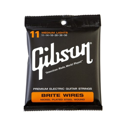 Gibson g700ml Brite Calibre Wires .050–Light (Cuerdas F. S de guitarra)
