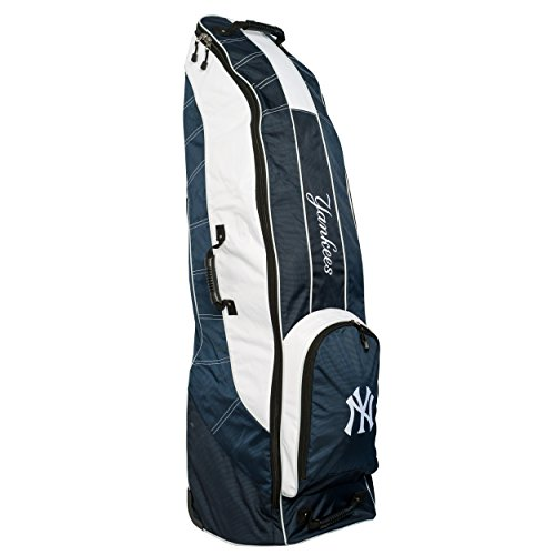 Affordable Team Golf MLB New York Yankees Travel Golf Bag, High-Impact Plastic Wheelbase, Smooth & Q...