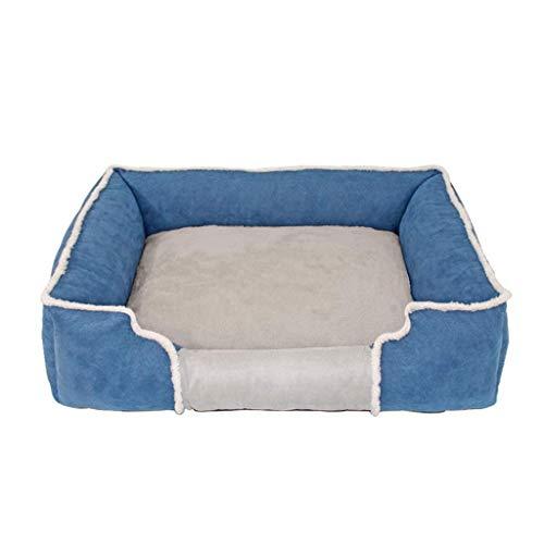 AINIYF Haustierbett Selbstwärmende Lounge Sleeper, Hundebett Super Soft Pet Sofa Katzenbett, Blau/DREI Größen (Size : 80x60cm)