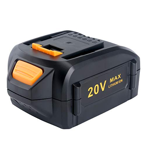 Lasica Replacement for Worx 20V Lithium Battery 5.0 Ah WA3578 WA3520 WA3575 Worx Battery Compatible with Worx 20-Volt Cordless Power Tools WG163 WG170 WG546.9 WG261 WG160 and Worx Battery Charger 20V