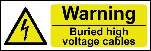 Spectrum Industrie 31.912,6cm Achtung begraben HV Kabel Nicht selbstklebend PVC, Mehrfarbig, 600x 200mm