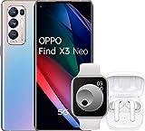 OPPO Find X3 Neo Argent Galactique Smartphone débloqué 5G - 256 Go - 12 Go de RAM – Ecran 90Hz - Batterie 4500 mAh - Quadruple Capteur Photo 50 MP - USB-C - Android 10 - Téléphone Portable