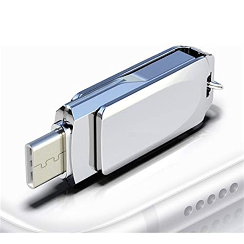360 Rotation Type C 32GB 16GB 128GB USB Flash Drive Type C For Smart Phone Tablet 64GB Pen Drive For Android Phone 0102 (Capacity : 16GB, Color : TCV10 Silver)