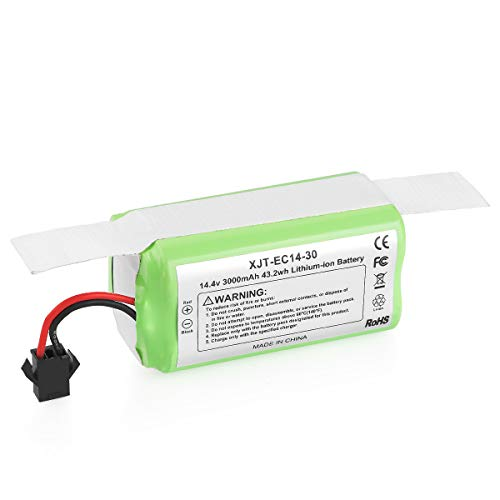 Powilling 14.4v 3000mAh Replacement Battery - Compatible with Ecovacs Deebot N79 N79S DN622 & Eufy RoboVac 11, 11S, 11S MAX, 12, 15C, 15C MAX, 15T, 30, 30C, 30 MAX, 35C - Cleaned ≥120 Mins