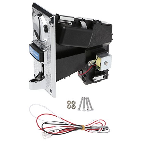 ULKEMEMulti Coin Acceptor Selector For Vending Machine Arcade Game 6 Kinds Different Coins
