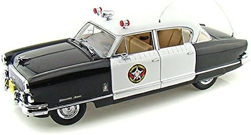 1952 Nash Ambassador Airflyte Kenosha County Sheriff Police Car 1 18 schwarz Weiß