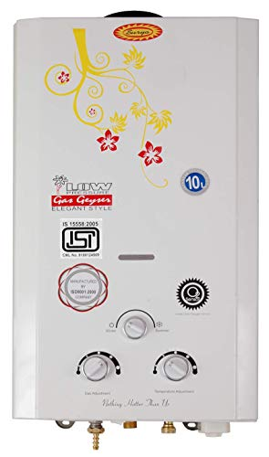 Surya Instant LPG Gas Geyser(Gas Water Heater) 10L/ Minute in Cream Colour