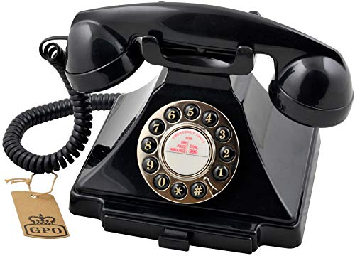 GPO 1929SPUSHBLA Klassik Bakelit Telefon 20er Jahre Design Schwarz