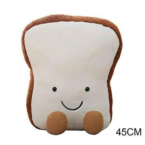 SSXPlüschtiere Brot Toast Soft Toys Büro Mittagspause Nickerchen Schlafkissen Kissen Gefüllte Geschenkpuppe für Kinder, 48cm