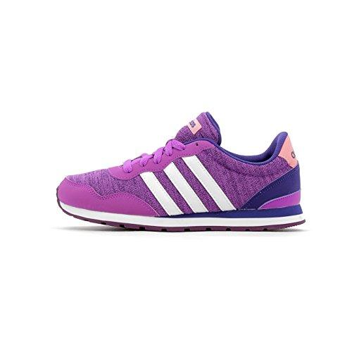 adidas V Jog K, Zapatillas de Deporte Unisex niños, (Pursho/Ftwbla/Púrtri), 35.5 EU