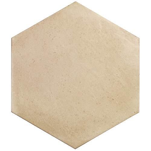 Nais Cerámica para suelos y paredes Colección Terra 29,2x25,4 cm -Caja de 1 m2 (18 Piezas), Hexagon Sand