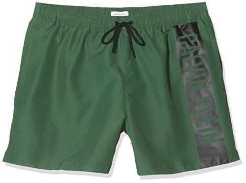 Calvin Klein Medium Drawstring Bañador, Verde (Dark Green LC0), L para Hombre