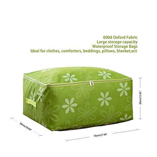YIMOJI pieghevole, con borsa per trasporto abiti nell'armadio Felpa biancheria da letto, trapuntato, con scatola Organizer