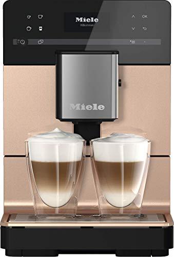 Miele CM 5500 Kaffeevollautomat (OneTouch- und OneTouch for zwei-Zubereitung, Zwei Genießerprofile, automatische Spülprogramme, Edelstahl-Kegelmahlwerk) roségold pearlfinish