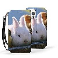 動物 ウサギ Iphone 12 ケース(12/12pro/12mini/12pro Max)Iphone12カバー 手帳型 カード収納 ポケット付き 軽量 Puレザー【衝撃吸収 全面保護 角度調節 横置きスタンド機能】