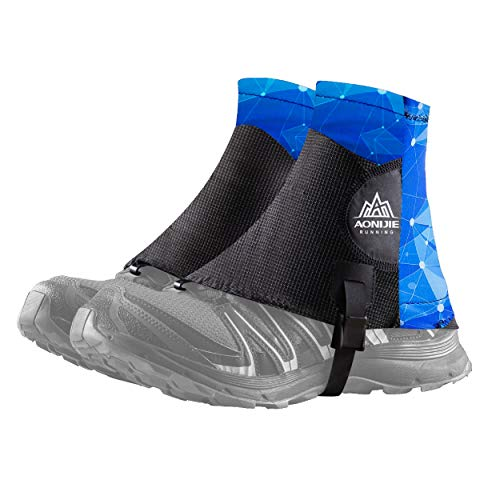 Azarxis Low Trail Gaiters Reflective Ankle Gators Protective Shoe Covers with UV Protection & Breathable & Sand Prevention for Women & Men & Youth Hiking Climbing (Green)