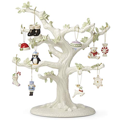 Lenox Christmas Memories 10-Piece Ornament & Tree Set, 6.35 LB, Multi, 11