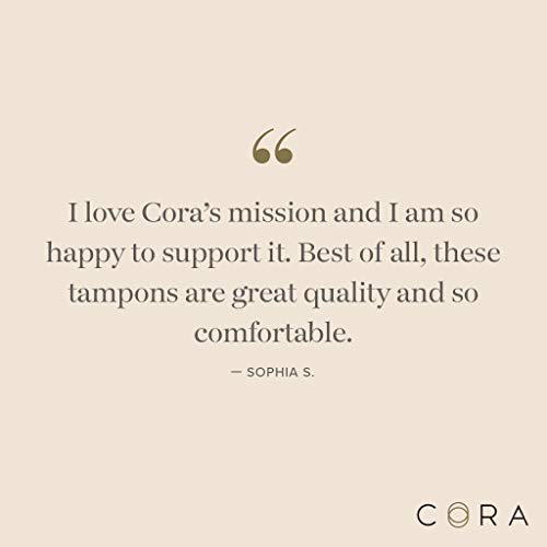 Cora Organic Cotton Non-Applicator Tampons