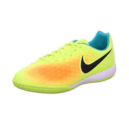 Nike Jr Magistax Opus II IC, Zapatos de Primeros Pasos Unisex bebé, Amarillo (Volt/Black-Total Orange-Clear Jade), 27 1/2