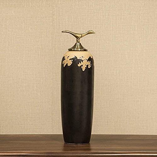 QI-Shanping Escultura de cerámica Grande Decoración Entrada Sala de exposición Soporte para TV Artesanía Creativa Decoración Suave para el hogar Adornos (Tamaño: C)-C